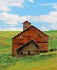 Unusual Old Red Barn