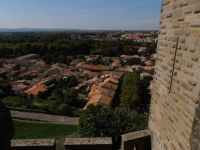 View from the ramparts at Carcassonne