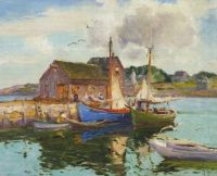 """Harbor Reflection, Rockport, Massachusetts"" 1931 Mathias J. Alten"