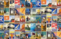 Collage of Vintage Travel Posters