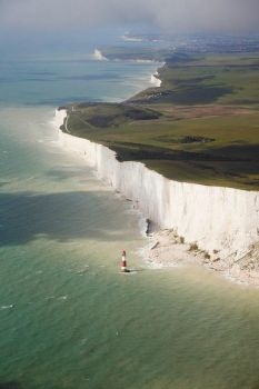 White cliffs in England