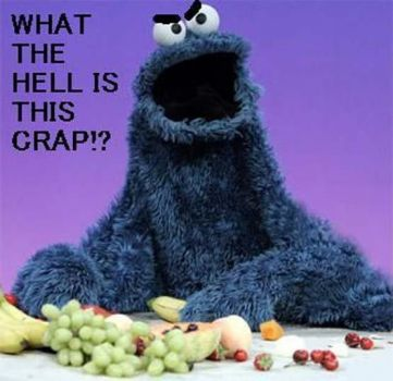 cookie monster not so happy....