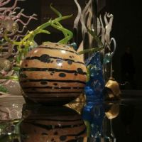 Chihuly sculpture at the Royal Ontario Museum