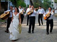 Musicians 59 - Mariachi Band Serenading Bride To Church; Sayulita, Mexico
