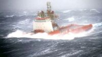 Supply boat/tug in rough weather!!