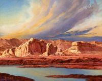 Canyon Lands Sunset, Original Painting by Brian Day