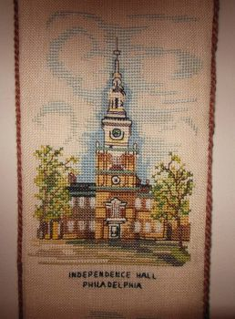 Thread count embroidery - Independence Hall, Philadelphia, PA