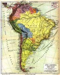 Maps - Süd Amerika 1888