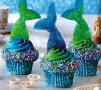 Mermaid Birthday Cupcakes to TeaMac  & MrsMike2 7/20