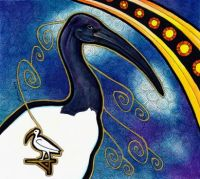 african sacred ibis as totem