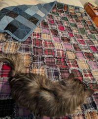 Denim and Flannel Rag Quilt