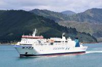 Aratere ferry leaving Picton New Zealand