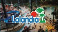 Lalandia logo og billede fra Lalandia i Billund