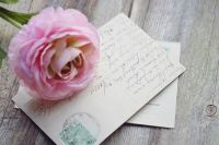 Old Vintage Letter With Rose 10-4-17