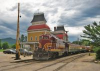 train at north conway, new hampshire