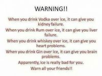 Don't eat ice