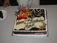 A very scrumptious chocolate banana birthday cake