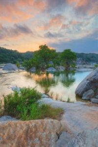 Summer sunrise in the Texas Hill Country
