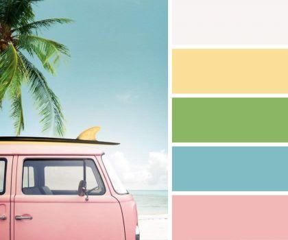 Pink Surfer Van