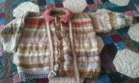 Hand spun, dyed and knitted