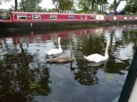 Narrow boating on the river Soar