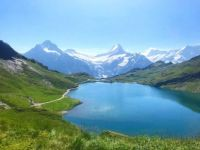 View across Bachsee. Switzerland