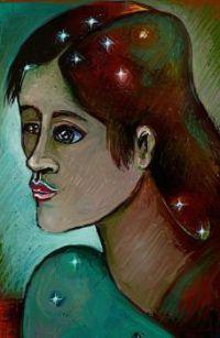 The Astrologer.  ( Digital drawing, (ArtRage.))