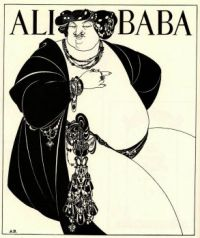 Aubrey Beardsley - Cover design for Ali Baba-1897