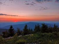 Západ slunce, pohled z Lysé Hory, Beskydy - Sunset, view from Lysá Hora, Beskydy Mountains