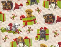 Cute dogs at Christmas