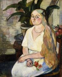 Portrait of Germaine Utter - Suzanne Valadon 1922 French 1865-1938