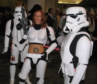 Aren't you a little hot for a stormtrooper?