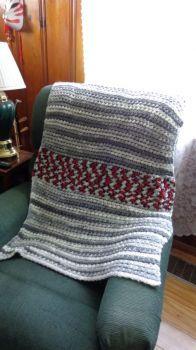 Crib Afghan I Crocheted for Jameson's 1st Birthday