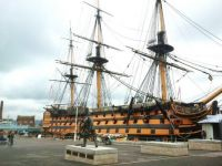HMS Victory docked in Portsmouth  UK