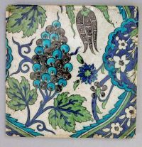 Tile, late 16th–early 17th century, attributed to Syria