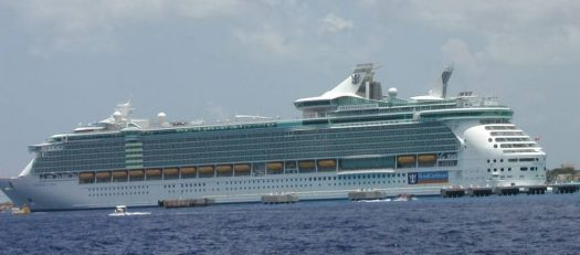 Freedom of the Seas...A great big boat compared to The Fantasy