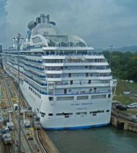 A tight fit for the Island Princess in the  Panama Canal