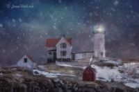Winter Nights at Nubble Lighthouse