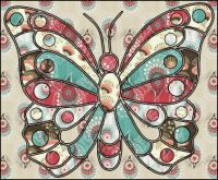 Stained glass butterfly - Large