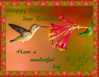 Happy Birthday dear Rebekka (Bekkabee)