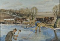 Fritz Syberg, Farmhands Fetching Ice (1927)