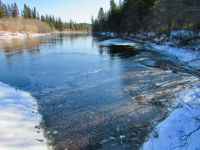Ice on the Magpie River