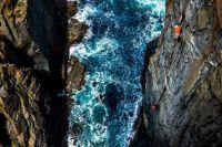 Climbers in Bruny Island, Tasmania