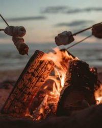 Marshmallows on the Beach