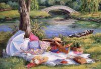 Picnic by the Bridge by Barbara Felisky
