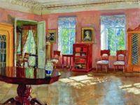 Stanislav Yulianovich Zhukovsky - Interior of the Library of the Landlord's House