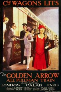 Themes Vintage Travel Poster - The Golden Arrow Train