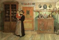 "Carl Larsson, ""Between Christmas and New Year"""