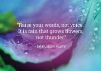 Rain not thunder