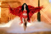 Engel tragen Rot - Victoria's Secret Mode Show in New York